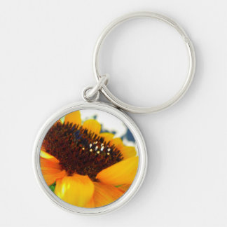 An Angled Sunflower Keychain
