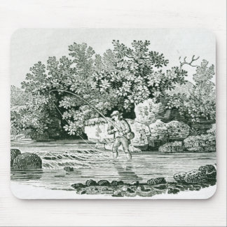 An Angler in a River Pool, from 'British Mouse Pad