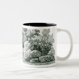 An Angler in a River Pool, from 'British Two-Tone Coffee Mug