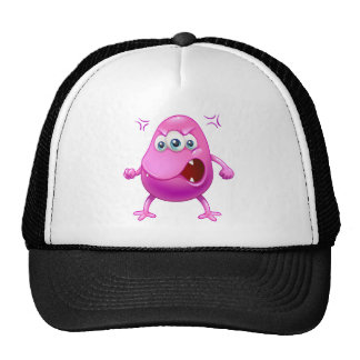 An angry beanie monster trucker hat