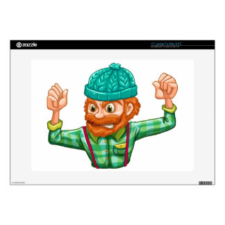 """An angry lumberjack decals for 15"""" laptops"""