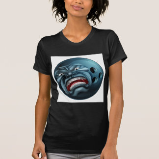 An angry mean looking bowling ball sports cartoon T-Shirt
