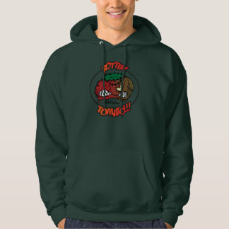 an angry rotten tomato hoodie