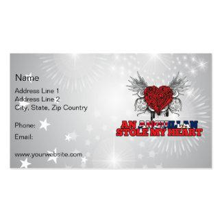 An Anguillan Stole my Heart Business Card Template