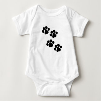 An Animal Paw Prints Baby Bodysuit