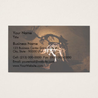 An animal skeleton in museum business card
