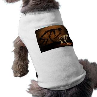 An animal skeleton in museum doggie t shirt