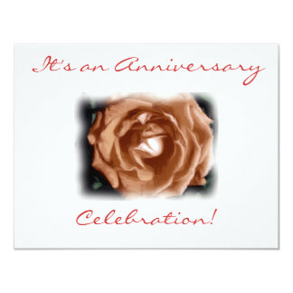 "An Anniversary Celebration! 4.25"" X 5.5"" Invitation Card"