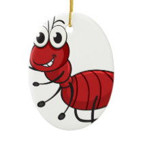 an ant ceramic ornament