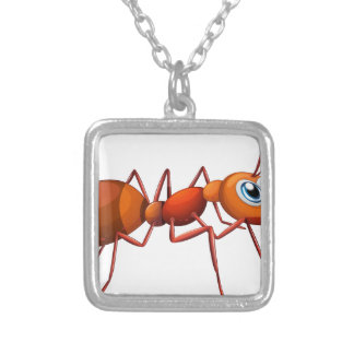 An ant square pendant necklace