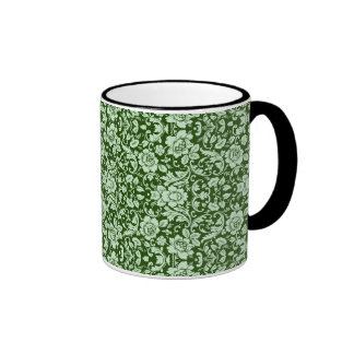 An antique floral damask coffee mug