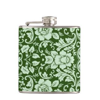 An antique floral damask flask