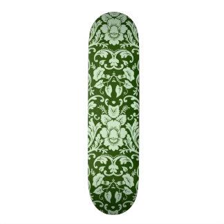 An antique floral damask skateboard deck