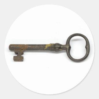 An Antique Key Classic Round Sticker