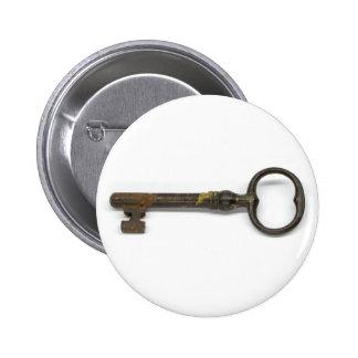 An Antique Key Pinback Button