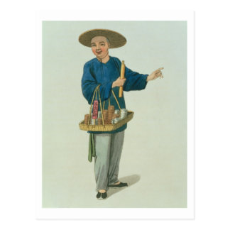 An Apothecary, plate 26 from 'The Costume of China Postcard