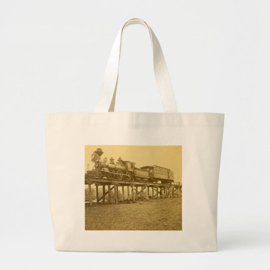 An Appalling Accident at Farmington River Large Tote Bag
