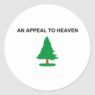 An Appeal To Heaven American Revolution Flag Classic Round Sticker