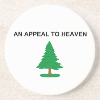 An Appeal To Heaven American Revolution Flag Drink Coaster