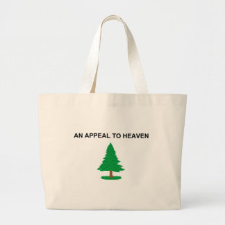 An Appeal To Heaven American Revolution Flag Large Tote Bag