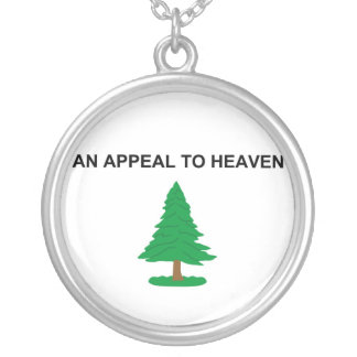 An Appeal To Heaven American Revolution Flag Silver Plated Necklace