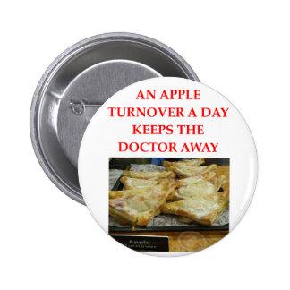 an apple a day pinback buttons