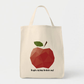 An Apple a Day Grocery Tote Bag