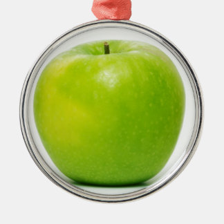 an apple a day keeps the doctor at bay metal ornament