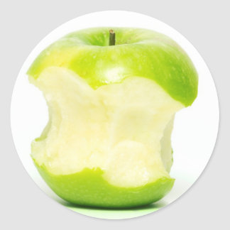 An apple a day keeps the doctor away classic round sticker
