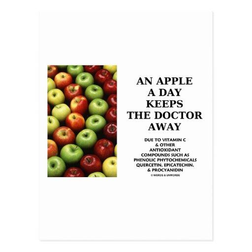 An Apple A Day Keeps The Doctor Away (Food Advice) Post Card
