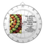An Apple A Day Keeps The Doctor Away (Food Humor) Dart Boards