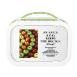 An Apple A Day Keeps The Doctor Away (Food Humor) Lunchboxes