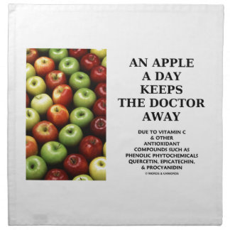 An Apple A Day Keeps The Doctor Away (Food Humor) Napkin
