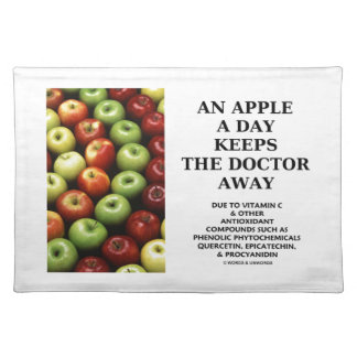 An Apple A Day Keeps The Doctor Away (Food Humor) Placemats