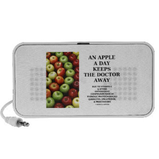 An Apple A Day Keeps The Doctor Away Food Humor iPhone Speakers