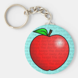 An Apple A Day Keeps The Doctor Away Keychain