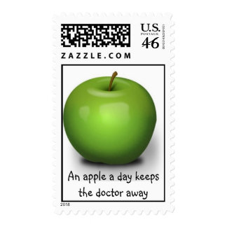 An apple a day keeps the doctor away stamps