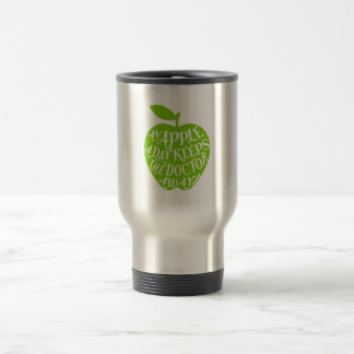 An apple a day keeps the doctor away travel mug