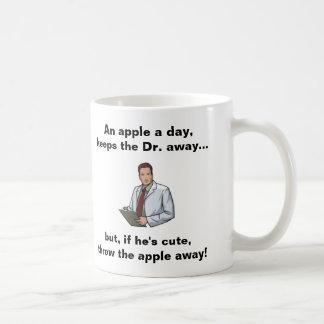 An Apple a Day, Keeps the Dr Away Coffee Mug