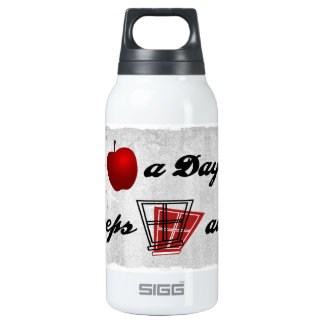 An apple a day keeps windows away insulated water bottle