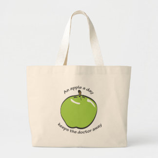An apple a day... large tote bag