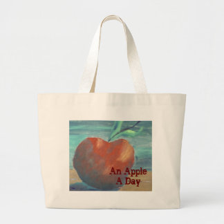An Apple A Day Large Tote Bag