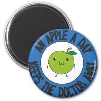 An apple a day magnet