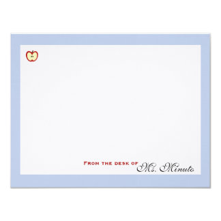 An Apple A Day Personalized Stationery 4.25x5.5 Paper Invitation Card