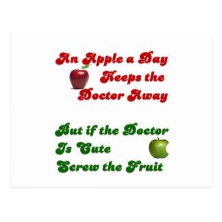An Apple A Day.... Postcard