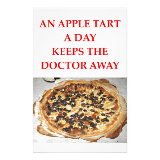 an apple a day stationery