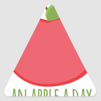 An Apple a Day Triangle Sticker