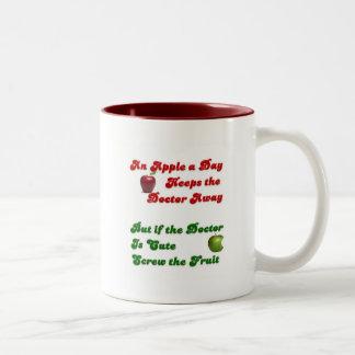 An Apple A Day.... Two-Tone Coffee Mug