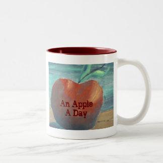 An Apple A Day Two-Tone Coffee Mug