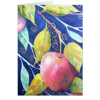 """""""An Apple A Day"""" Watercolor Card"""